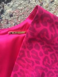 Elie Tahari Floral Animal Print Dress Angle2