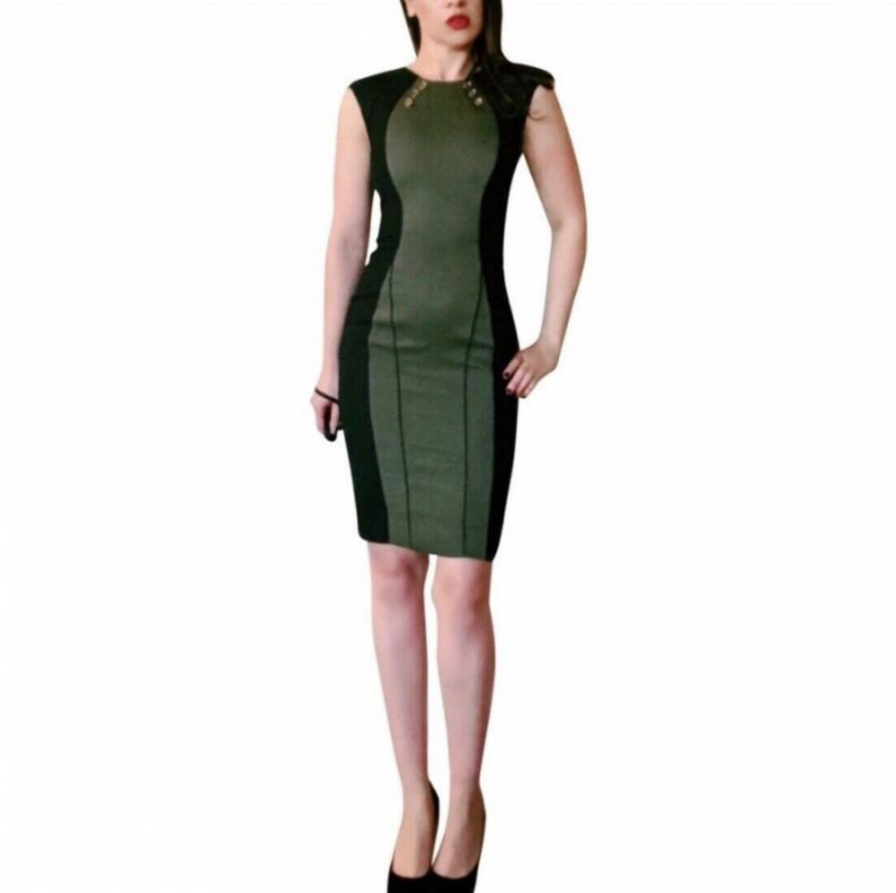 Quilted Jason Wu body con green dress