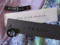 floral print bodycon black halo dress NWT Angle5