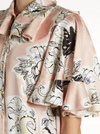 Roksanda Print Silk Georgette W/Ruffle top Angle5