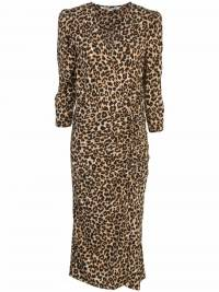 Veronica Beard Leopard Silk wrap dress like new
