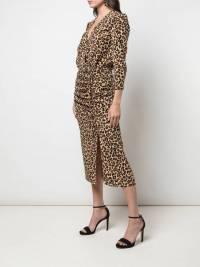 Veronica Beard Leopard Silk wrap dress like new  Angle2