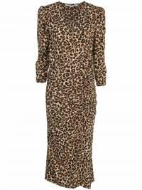 Veronica Beard Leopard Silk wrap dress like new  Angle4