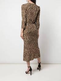 Veronica Beard Leopard Silk wrap dress like new  Angle8