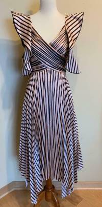 Self Portrait Stripe Dress, Pink and Black Size 0 Angle2