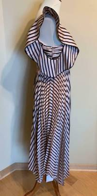 Self Portrait Stripe Dress, Pink and Black Size 0 Angle3