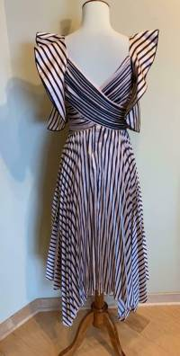 Self Portrait Stripe Dress, Pink and Black Size 0 Angle4