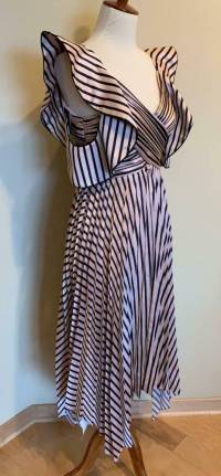 Self Portrait Stripe Dress, Pink and Black Size 0 Angle6