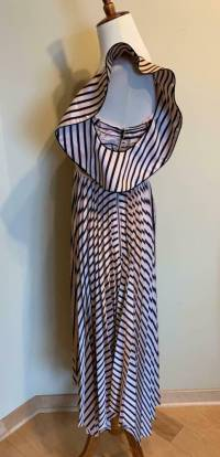 Self Portrait Stripe Dress, Pink and Black Size 0 Angle7