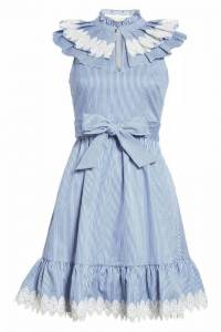 Ted Baker striped collar flare dress Angle1