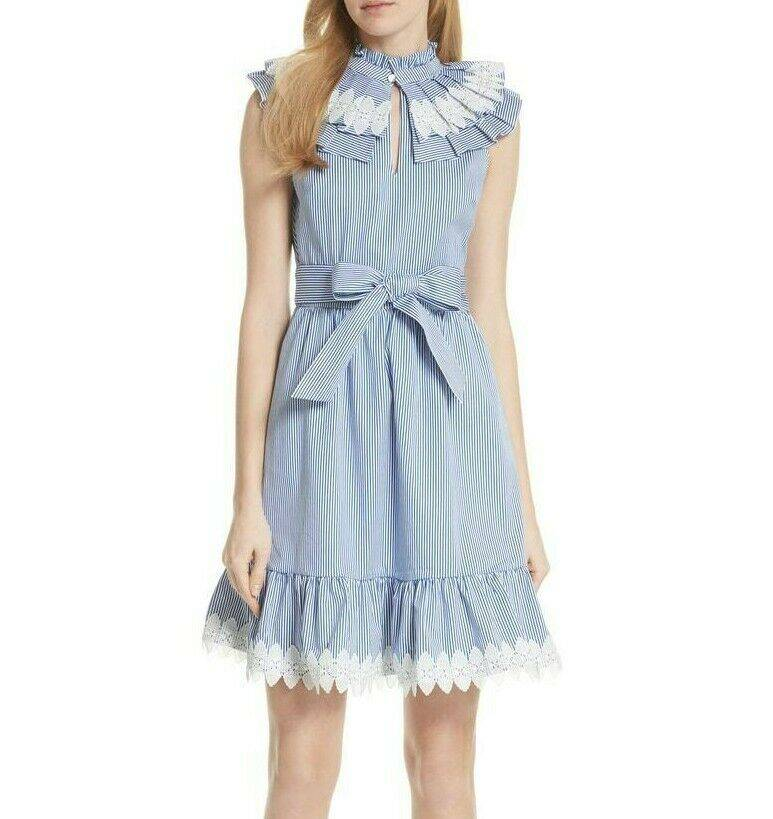 Ted Baker striped collar flare dress