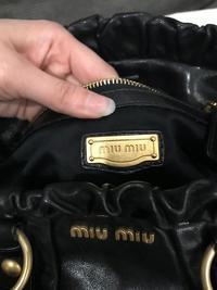 Authentic Miu Miu Vitello Lux Leather Satchel Angle9