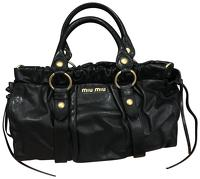 Authentic Miu Miu Vitello Lux Leather Satchel