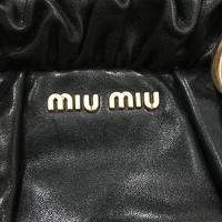 Authentic Miu Miu Vitello Lux Leather Satchel Angle4