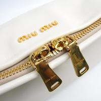 Miu Miu Vitello flap fold over satchel Angle7