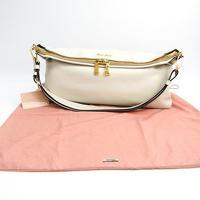 Miu Miu Vitello flap fold over satchel Angle8