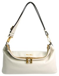 Miu Miu Vitello flap fold over satchel