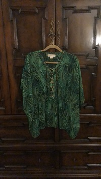 Jungle Print Flutter Top Angle2