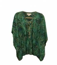 Jungle Print Flutter Top Angle1