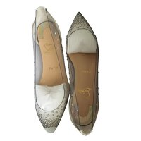 Leather Degrastrass flat by Christian Louboutin Angle1