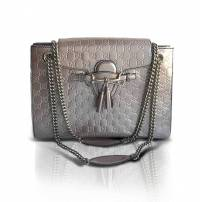 Guccissimo Patent Leather Shoulder bag Angle1