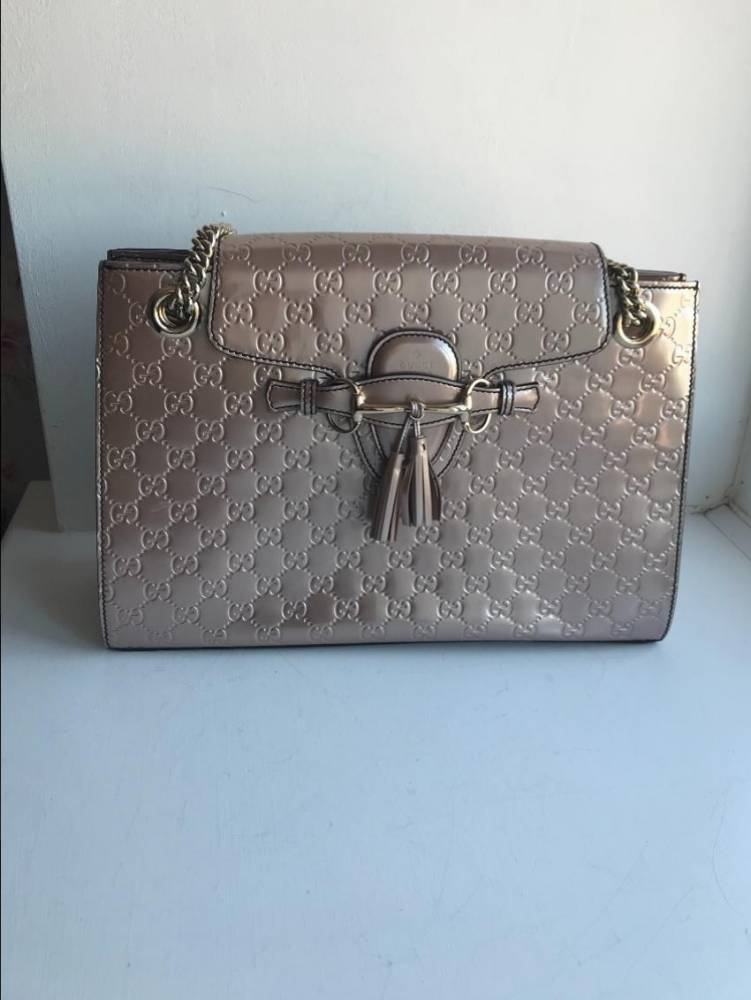 Guccissimo Patent Leather Shoulder bag