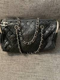 Weave Chanel bowling bag