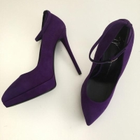 Purple Emy Suede High Heels Pumps