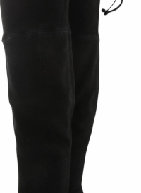 Black Tie Model Thigh High Boots/Booties Angle7