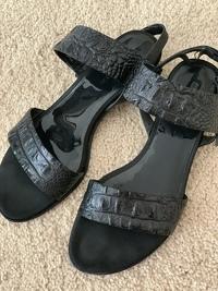 Alligator leather sandals Angle1