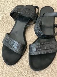 Alligator leather sandals Angle4