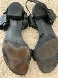 Alligator leather sandals Angle5