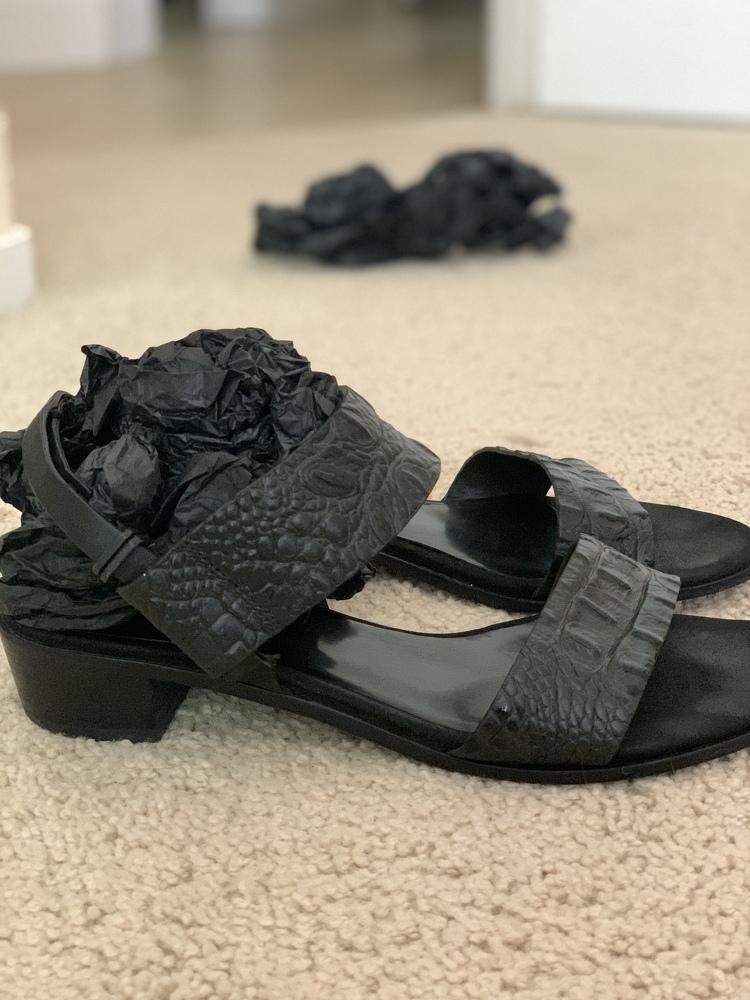 Alligator leather sandals