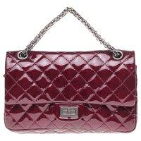 2.55 handbag in burgundy patent leather Angle4