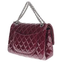 2.55 handbag in burgundy patent leather Angle8