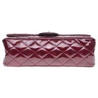 2.55 handbag in burgundy patent leather Angle11