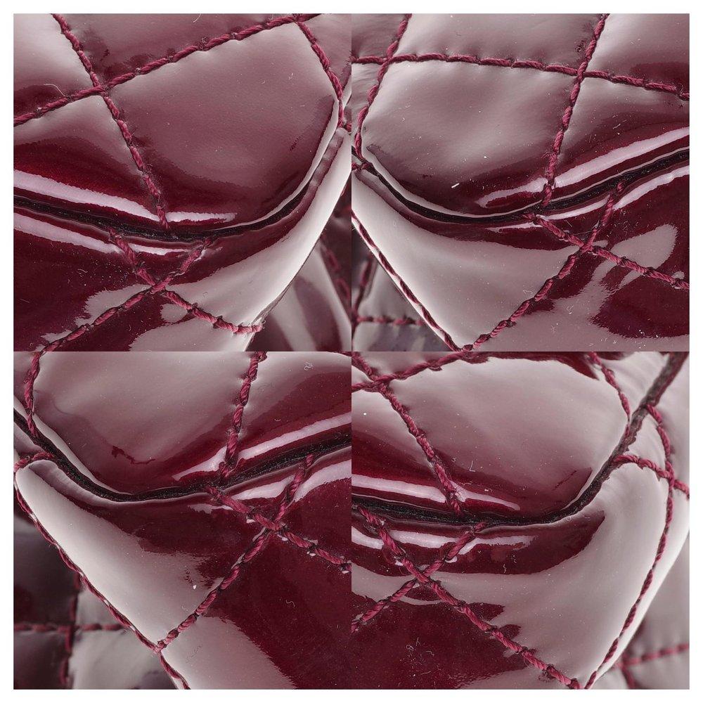 2.55 handbag in burgundy patent leather