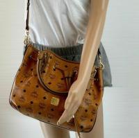 MCM Visetos shoulder bag cognac color Angle3