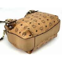 MCM Visetos shoulder bag cognac color Angle2
