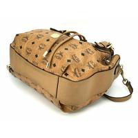 MCM Visetos shoulder bag cognac color Angle5