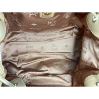 MCM Visetos shoulder bag cognac color Angle7