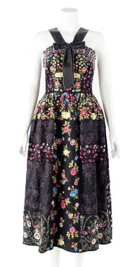 Black Embellished Midi Dress by Needle & Thread