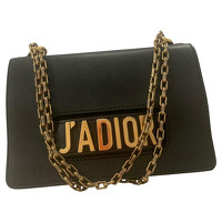 Chic J'adior Flap Bag Leather in Black
