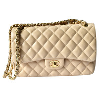 Classic Flap Bag Leather in Beige Angle1
