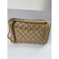Classic Flap Bag Leather in Beige Angle2