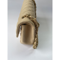Classic Flap Bag Leather in Beige Angle3