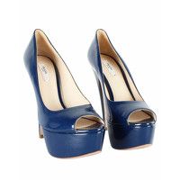 Prada Sandals Leather in Blue Angle2