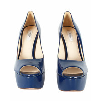 Prada Sandals Leather in Blue Angle3