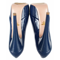 Prada Sandals Leather in Blue Angle5