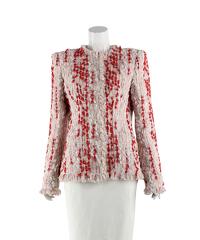 Multicoloured tweed jacket of Alexander McQueen Angle2